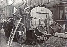 Dustcart, c. 1910 [ London UK ] So many horse and carts passed our house every week.