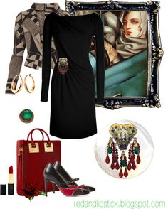 """How to wear brooches: At the waist"" by carolgrant ❤ liked on Polyvore"
