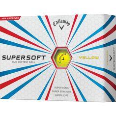 Callaway Supersoft Yellow Golf Balls - Prior Generation