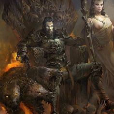 Monas, a commander of the underworld and an immortal vampire Hades Greek Mythology, Greek Mythology Tattoos, Greek And Roman Mythology, Greek Gods And Goddesses, Dark Fantasy Art, Fantasy Artwork, Hades Tattoo, Kratos God Of War, Roman Gods