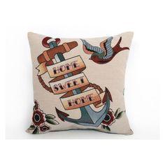 Cult Living Tattoo Anchor Cushion - Multi Coloured