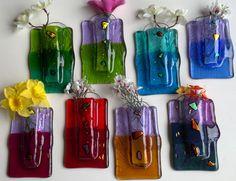 Luminosity Glass Fused Glass Pocket Wall Vase