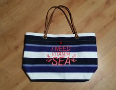 Tommy Hilfiger bag from Marshalls, HTV EasyWeed from Expressions Vinyl