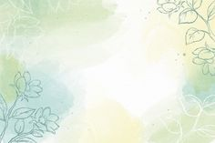 Watercolor wallpaper with hand-drawn ele... | Free Vector #Freepik #freevector Watercolor Floral Wallpaper, Watercolor Background, Abstract Watercolor, Watercolor Flowers, Pastel Color Background, Background Patterns, Leaf Background, Flor Iphone Wallpaper, Spring Blooming Flowers