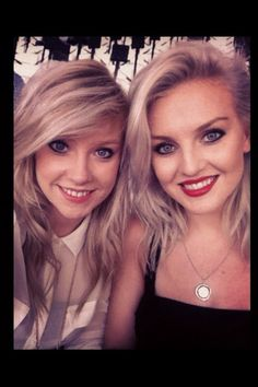 Perrie and her best friend Katherine at the closing ceremony.