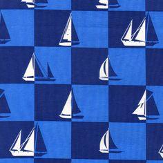 Alice Kennedy - Ship Shape - Sailboat Geo in Blue