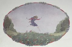 Little Jumping Joan / 1912 Nursery Rhyme by APaperReverie on Etsy, $12.00