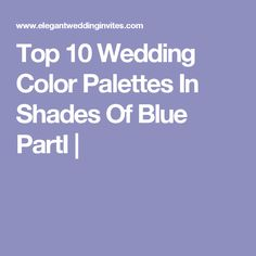 Top 10 Wedding Color Palettes In Shades Of Blue PartⅠ |