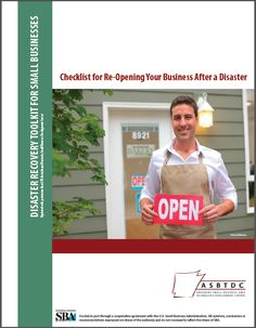 Checklist for Re-Opening Your Business After a Disaster - Great post-disaster business recovery checklist developed by the Kentucky SBDC and re-branded with their permission. Used during the recent Mayflower / Vilonia F4 tornado.