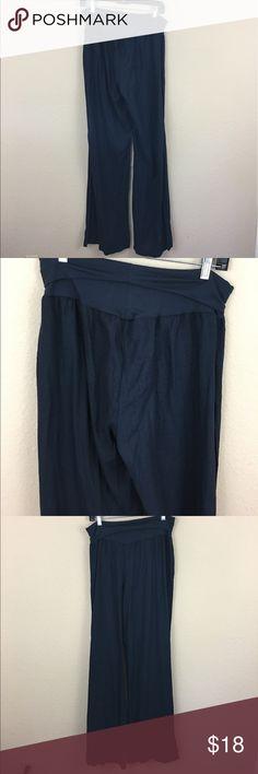 Love Tree linen foldover waist flare pants Great condition love tree Pants