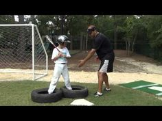 Soft Toss Tire Drill (7 & 8 yr. olds) - YouTube