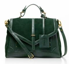 Tory Burch 797 Satchel: Like a classic green volvo – Retro cool #EditorsWishlist