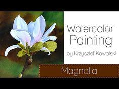 Watercolor Flowers for Beginners Watercolor Flowers Tutorial, Watercolor Video, Watercolour Tutorials, Watercolor Techniques, Floral Watercolor, Painting Tutorials, Painting Lessons, Art Lessons, Painting & Drawing