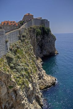 ღღ sea walls, historic Dubrovnik, Croatia ~ UNESCO World Heritage Site. The Places Youll Go, Places To See, Ex Yougoslavie, Travel Around The World, Around The Worlds, Cities, Croatia Travel, World Heritage Sites, Albania