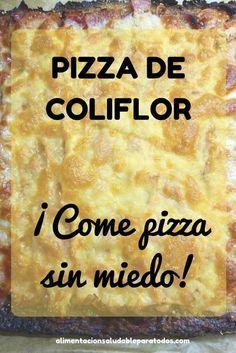 pizza de coliflor