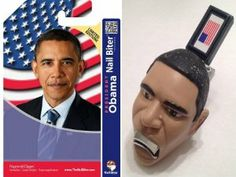 President Obama Nail Clippers by Nail Biter by President Obama Nail Clippers. $12.99. President Obama Nail Clippers. President Obama Nail Biter Nail Clippers.   The Nail Biter is a special designed fingernail clipper that displays your favorite college mascot, pro player, cartoon character, and public figure.  The Limited Edition President Obama Nail Biter is a collectors item because he made history by becoming the first Aferican American President.  On the back of each pac...