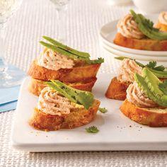 Coupelles de prosciutto à la salade de cantaloup - 5 ingredients 15 minutes Bruschetta, Fingers Food, Canapes, Calories, Prosciutto, Pesto, Bagel, Avocado Toast, Cravings