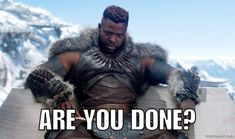 """Shuri's Big Sister on Twitter: """"Today's mood brought to you by M'Baku. #WakandaForever… """""""