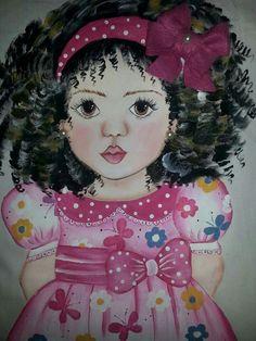 Bonecas de perninha | pintura em tecido | para meninas | almofadas