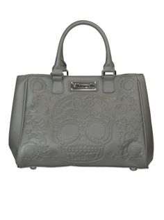 Embossed Sugar Skull Fashion Tote by Loungefly (Grey)  I NEED THIS!!!!!!!!!
