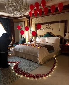 Awesome Deco Chambre Nuptiale that you must know, You?re in good company if you?re looking for Deco Chambre Nuptiale Romantic Room Decoration, Romantic Bedroom Decor, Wedding Night Room Decorations, Birthday Room Decorations, Decor Wedding, Wedding Gifts, Romantic Room Surprise, Romantic Birthday, Romantic Valentines Day Ideas