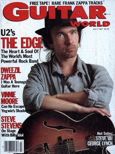 U2, The Edge,Guitar World, July 1987