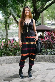 Here I am in Da'an District, Taipei. Credits: Alexis top, Mania pants, Alexander Wang shoes, Marc Jacobs purse, VSA ring, Vivienne Westwood bracelet, necklace from a night market. Via WSJ