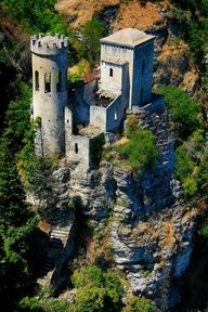 Erice, Sicily. Castle with Guelph pinnacles.