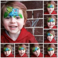 Bulbasaur Pokemon face paint makeup ManaArt Face and Body Painting