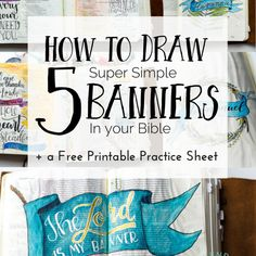 How to Draw 5 (Super Simple) Banners in Your Bible