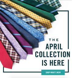 New ties, bow ties and pocket squares launch with our April Collection. Go ahead and see what's new (you know you want to). www.TheTieBar.com