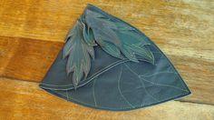 Leather,hip bag,pouch,festival bag,raised leaf design.. $35.00, via Etsy.