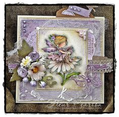 LOTV - Petal with Timeless Victorian papers by DT Fleur Pretty Cards, Cute Cards, Card Making Inspiration, Making Ideas, Hobby House, Shabby Chic Cards, Beautiful Fairies, Embossed Cards, Easel Cards
