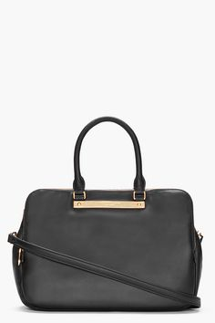 MARC BY MARC JACOBS black Italian leather Tote