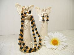 Vintage Liz Claiborne Matching Necklace & Earrings by DivineOrders