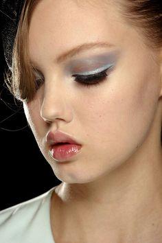 Giorgio Armani Spring 2013 Ready-to-Wear. Makeup by Linda Cantello  Model: Lindsey Wixon