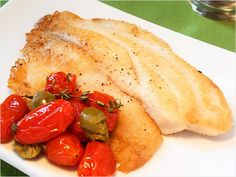 Pan-Seared Tilapia with Roasted Tomatoes and Olives