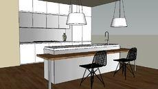 3D Model of McDesign LongLine Kitchen By Salvarani