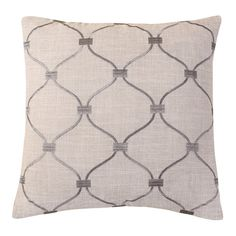 Found it at Wayfair - Embroidered Trellis Throw Pillow