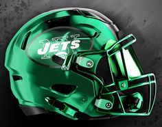 Cool Football Helmets, Sports Helmet, Football Gear, Sport Football, New York Jets Football, Saints Football, Custom Football, Football Design, Jets Nation