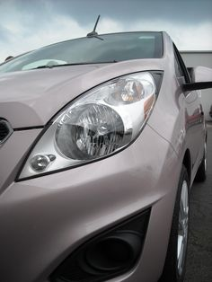 tiny, cute and full of attitude! We love it in Techno Pink! 2013 Chevy Spark, Spark 2013, Chevrolet Spark Ls, Car Chevrolet, Chevy Lineup, First Car, Vroom Vroom, Techno, Dream Cars