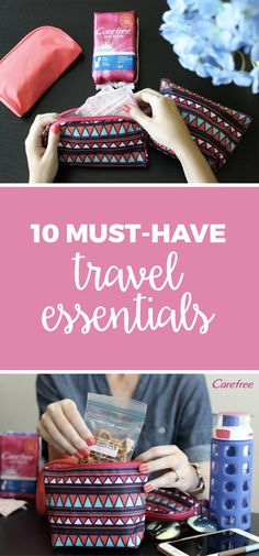 Whether you're jetting off on a European adventure or simply exploring a new city for a day, don't leave home without being prepared. These 10 must-have travel essentials will fit neatly inside a small purse so you'll be ready for all of life's little surprises. From a healthy on-the-go snack to a stash of Carefree® Acti-Fresh® liners, you'll have everything you need for a day of adventure!
