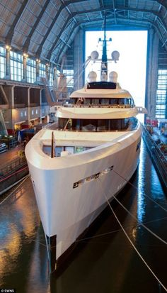 Vava II: The incredible £100m superyacht has been built for Britain's richest woman Kirsty Bertarelli and her billionaire husband Ernesto who had the boat built in secret by Plymouth boat-maker Devonport Yachts under the name Project 55.