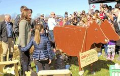 Crown Princess Mary today participates in Organic Denmark Økodag 2015 with three of her Children,Princess Isabella,Prince Vincent and Princess Josephine.19/04/2015