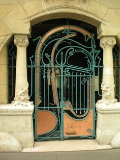 Hector Guimard door in Paris  https://www.flickr.com/photos/pixelology/2533144277/in/photostream/