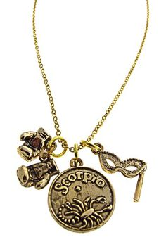 Alisa Michelle Scorpio Charm Necklace