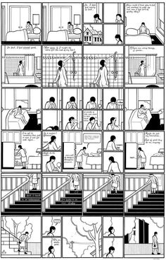 page from the graphic novel Building Stories by Chris Ware (2003)