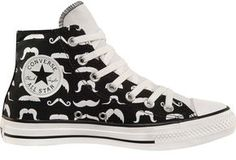 Converse All Star - Moustache shoes Cool Converse, Converse All Star, Converse Shoes, Converse High, Sock Shoes, Cute Shoes, Me Too Shoes, Shoe Boots, Tenis Star