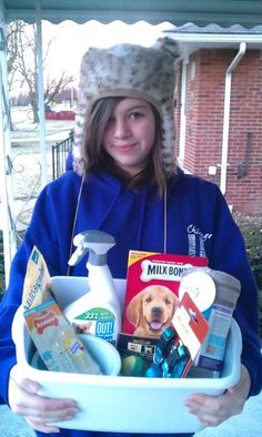 Our fun donation to the animal shelter
