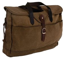 d9ccf2088b5d7 Outback Trading Co. Outback Messenger Laptop Organizer Brown 100% Cotton
